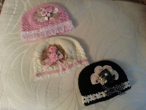 decorated infant hat